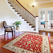 "Home Dynamix Richmond 7'10"" x 10'2"" Area Rug - Red-Ivory"