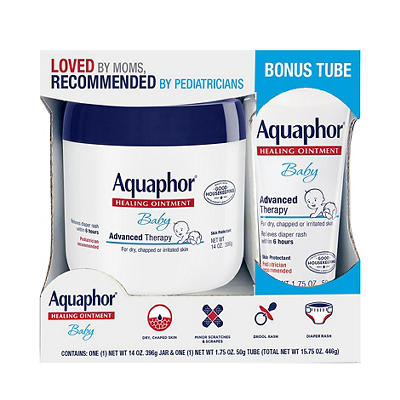 Aquaphor Advanced Therapy Baby Healing Ointment with Bonus, 15.75 oz.