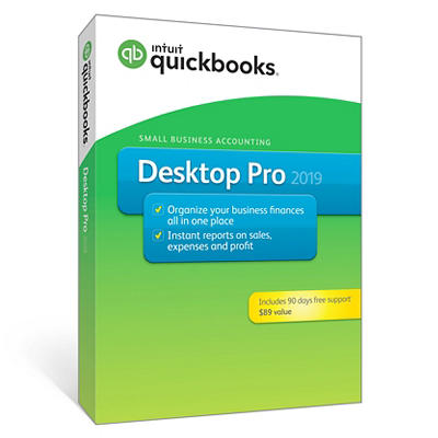 Intuit QuickBooks Desktop Pro 2019 with 90-Day Support