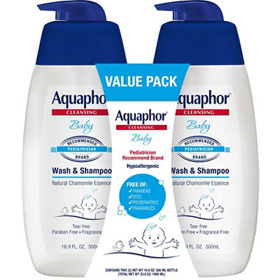 Aquaphor Baby Wash & Shampoo Value Pack, 2 pk. /16.9 fl. oz.