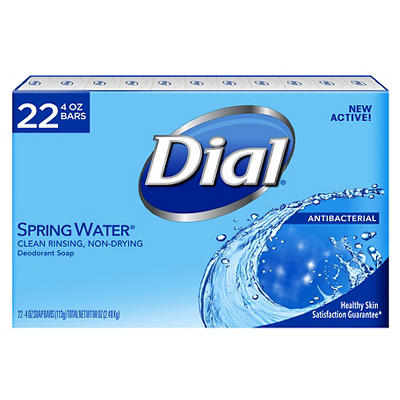Dial Antibacterial Spring Water Deodorant Bar Soap, 22 pk./4 oz.