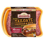 Johnsonville Tailgate Cheddar and Beer Brat, 10 ct.