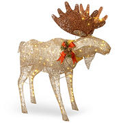 "National Tree Company 48"" Moose with White LED Lights"