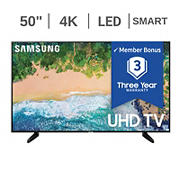 "Samsung 50"" NU6950 LED 4K UHD Smart TV - UN50NU6950 with 3-Year Warranty"