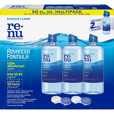 Renu Advanced Formula Disinfectant for Soft Contact Lenses, 3 pk./16 f