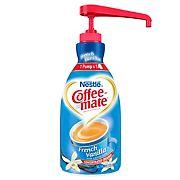Nestle Coffee-mate French Vanilla Liquid Creamer Concentrate Pump Bottle, 1.5L