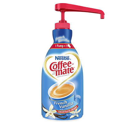 Nestle Coffee-mate French Vanilla Liquid Creamer Concentrate Pump Bott