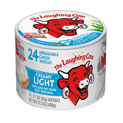 The Laughing Cow Light Creamy Swiss Spreadable Cheese Wedges, 24 ct.
