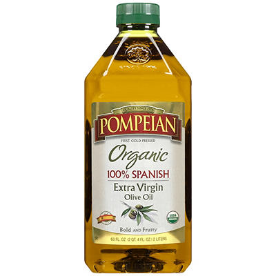 Pompeian Organic 100% Spanish Extra Virgin Olive Oil, 68 fl. oz.