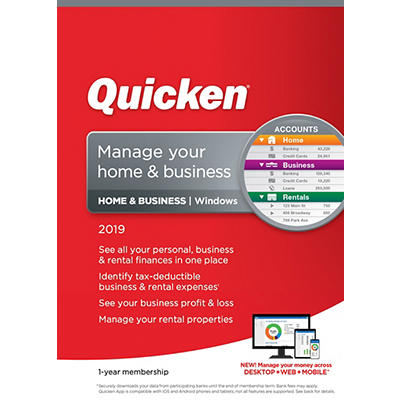 Quicken Home & Business 2019, 1 Year