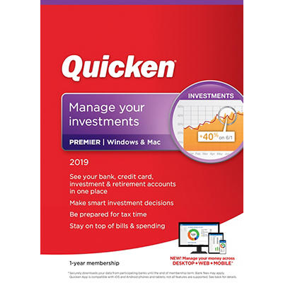 Quicken Premier 2019, 1 Year