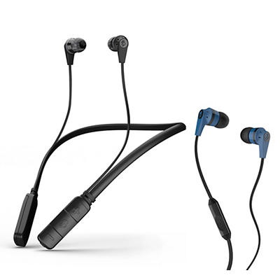 Skullcandy Ink'd Wire/Wireless In-Ear Headphones, 2 pk.