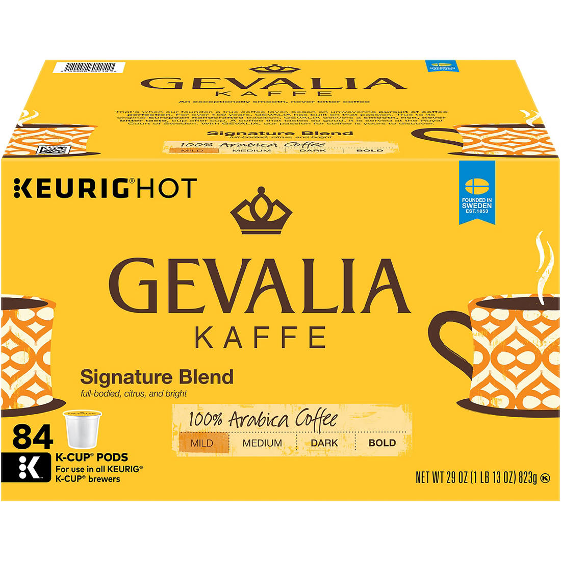 picture relating to Gevalia Printable Coupon named Gevalia Kaffe Colombia Medium Roast K-Cup Packs, 84 ct.