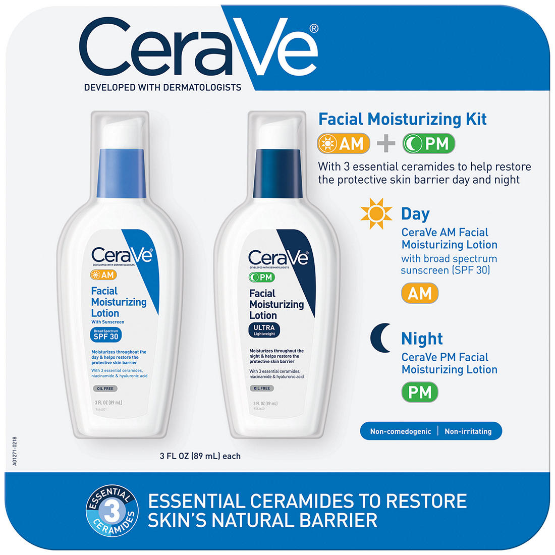 image relating to Cerave Coupons Printable named CeraVe Facial Moisturizing Package, 2 pk./3 fl. oz.