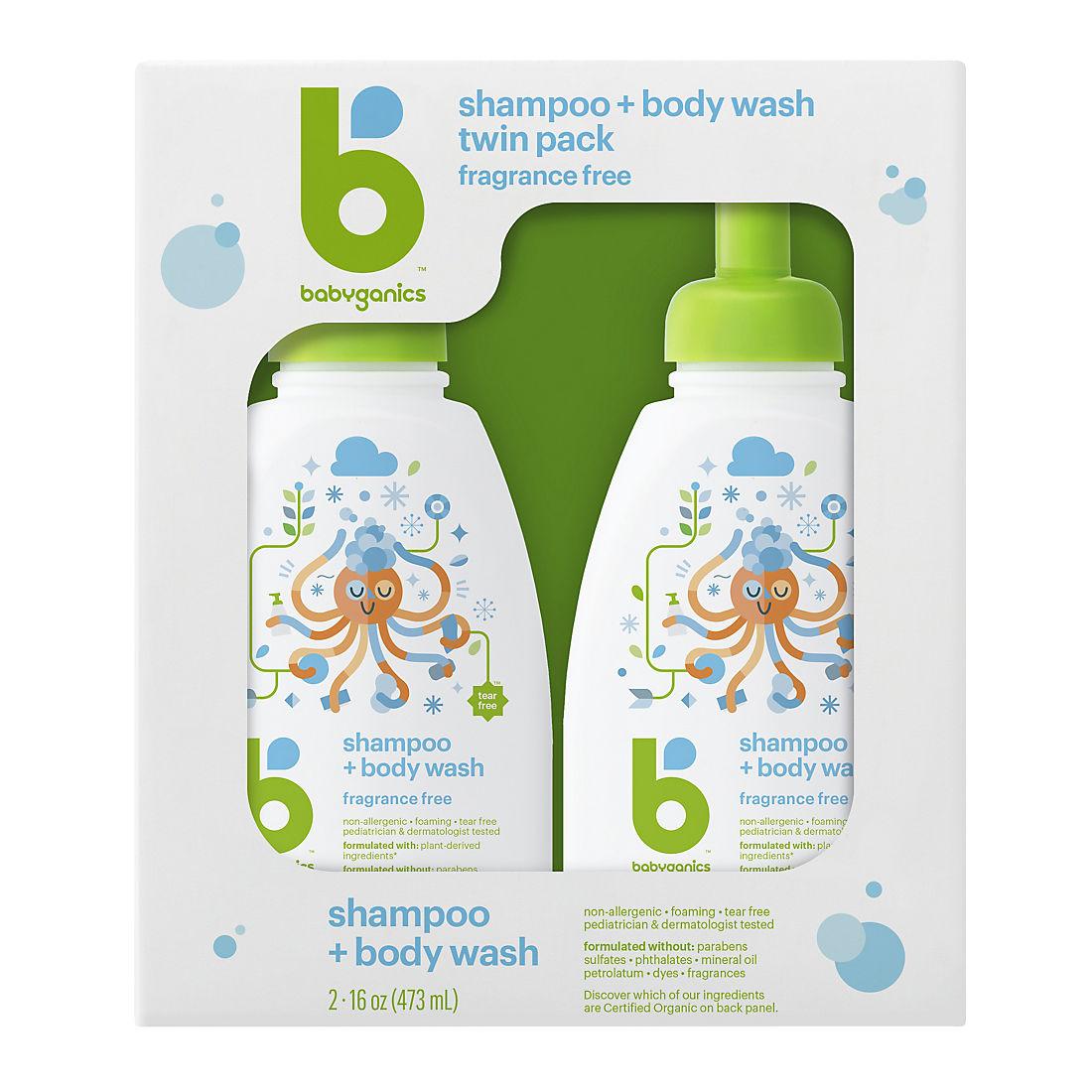 image about Babyganics Coupon Printable called Babyganics Shampoo Overall body Clean, 2 pk./16 oz.