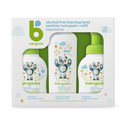Babyganics Alcohol-Free Hand Sanitizer, 2 pk./8.45 oz. with 16 oz. Ref