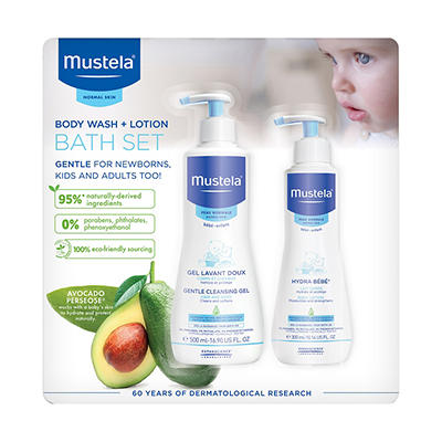 Mustela Baby Body Wash and Lotion Bath Set, 27.4 fl. oz.