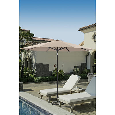 Berkley Jensen 9' Aluminum Umbrella - Sand