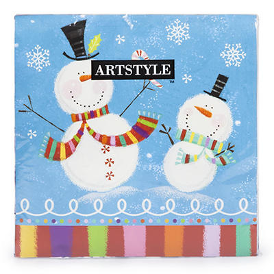 "Artstyle Holiday Buddies 3-Ply 13"" Napkins, 120 ct."