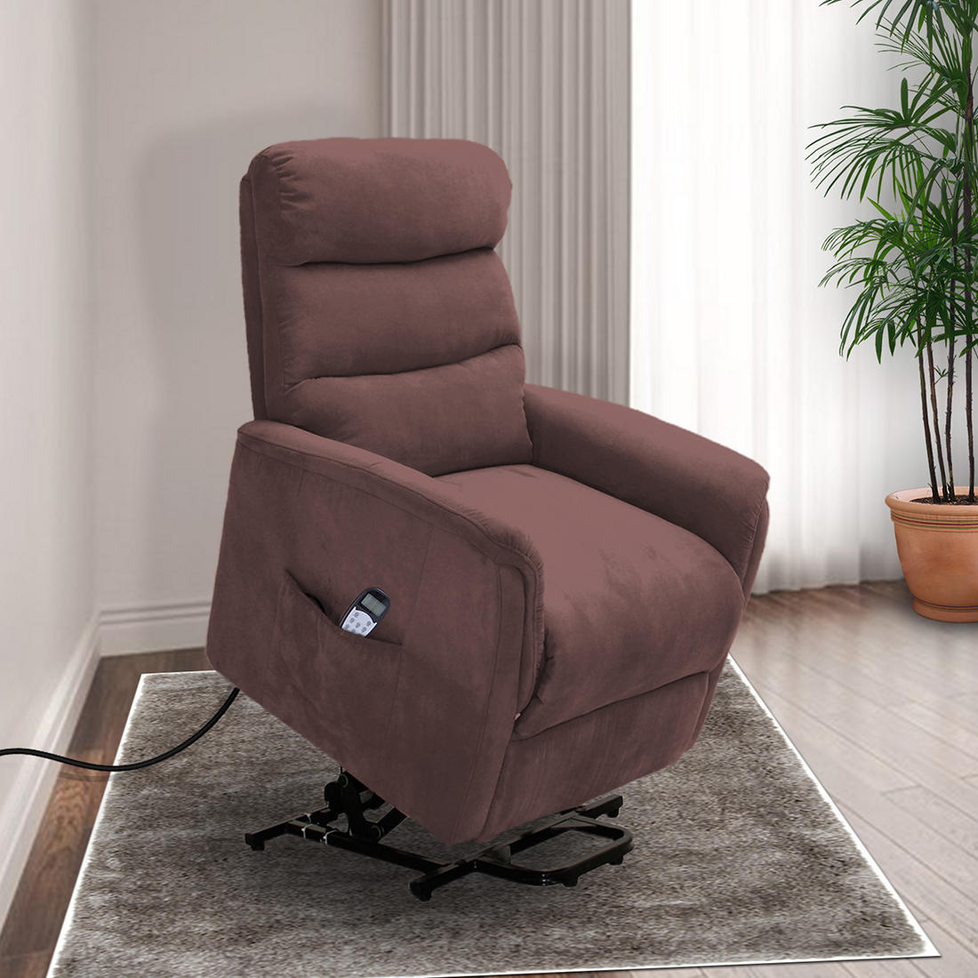 Enjoyable Lifesmart Lift Chair Recliner With Heat And Massage Brown Pabps2019 Chair Design Images Pabps2019Com