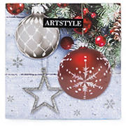"Artstyle Shimmer and Frost 3-Ply 13"" Napkins, 120 ct."