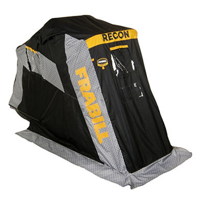 Frabill Recon 100 Flip-Over Ice Shelter with Padded Trunk Seat
