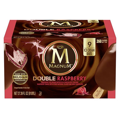 Magnum Double Raspberry Ice Cream Bars, 9 ct.