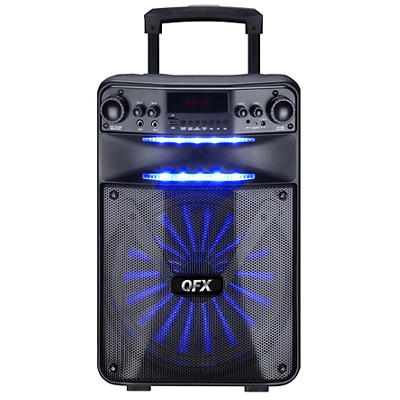 "QFX 12"" Rechargeable Bluetooth Party Speaker with Speaker Pro App Cont"