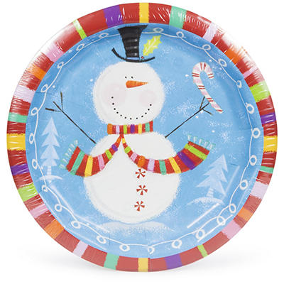 "Artstyle Holiday Buddies 10.25"" Plates, 40 ct."