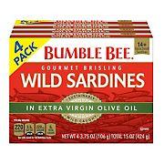 Bumble Bee Sardines, 4 pk./3.75 oz.