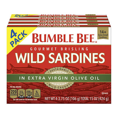 Bumble Bee Sardines, 4 pk./3.75 oz.