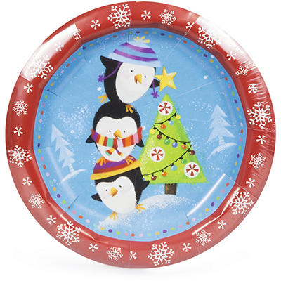 "Artstyle Holiday Buddies 6.75"" Plates, 75 ct."