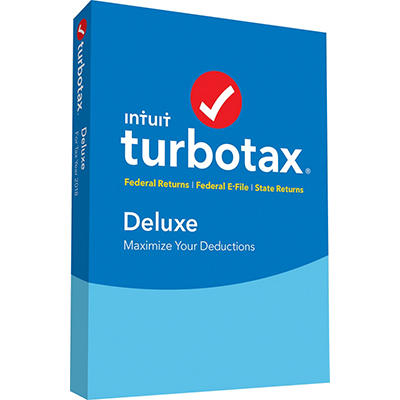 TurboTax Deluxe Federal Returns, Federal E-File and State Returns 2018
