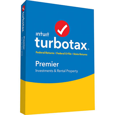 TurboTax Premier Federal Returns, Federal E-File and State Returns 201