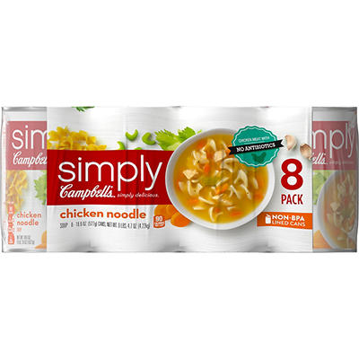 Campbell's Simply Chicken Noodle Soup, 8 pk./18.8 oz.