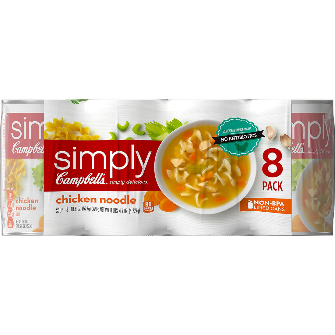 Campbell's Simply Chicken Noodle Soup, 8 pk /18 8 oz