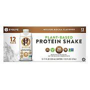 EVOLVE Real Plant-Powered Protein Shake, Mellow Mocha, 12 pk./11 oz.
