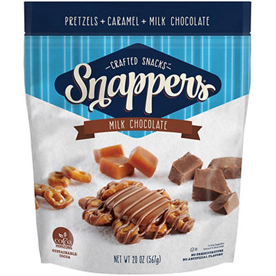 Snappers Milk Chocolate, Pretzel and Caramel Snacks, 20 oz.