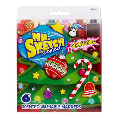 Mr. Sketch Holiday Scented Washable Markers, 6 ct.