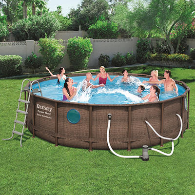 "Bestway 16' x 48"" Rattan Swim Vista Pool"