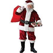 Crimson Regency Plush Adult Santa Suit - Standard