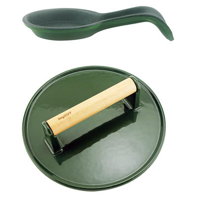 BergHOFF International Cast Iron Spoon Rest Set, 2 pc. - Green