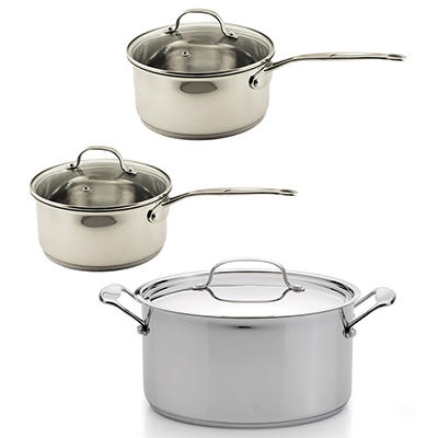 BergHOFF EarthChef Premium 6-Pc Stainless Steel Cookware Set