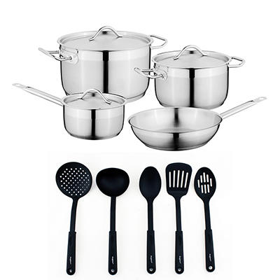 BergHOFF Hotel 12-Pc. Stainless Steel Cookware Set