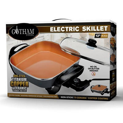 "Gotham Steel 12"" Electric Skillet"
