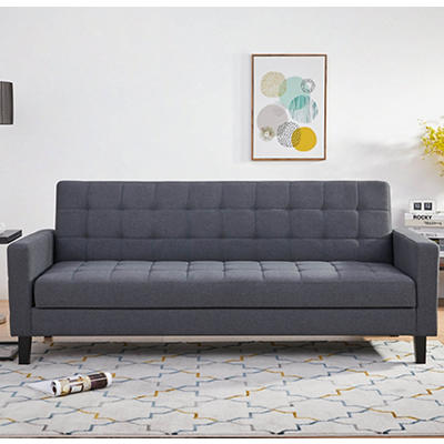Abbyson Living Jackson Click Clack Sofa Bed with Storage - Gray