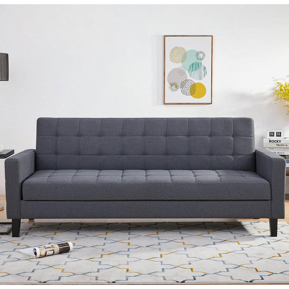 Abbyson Living Jackson Click Clack Sofa Bed With Storage Gray