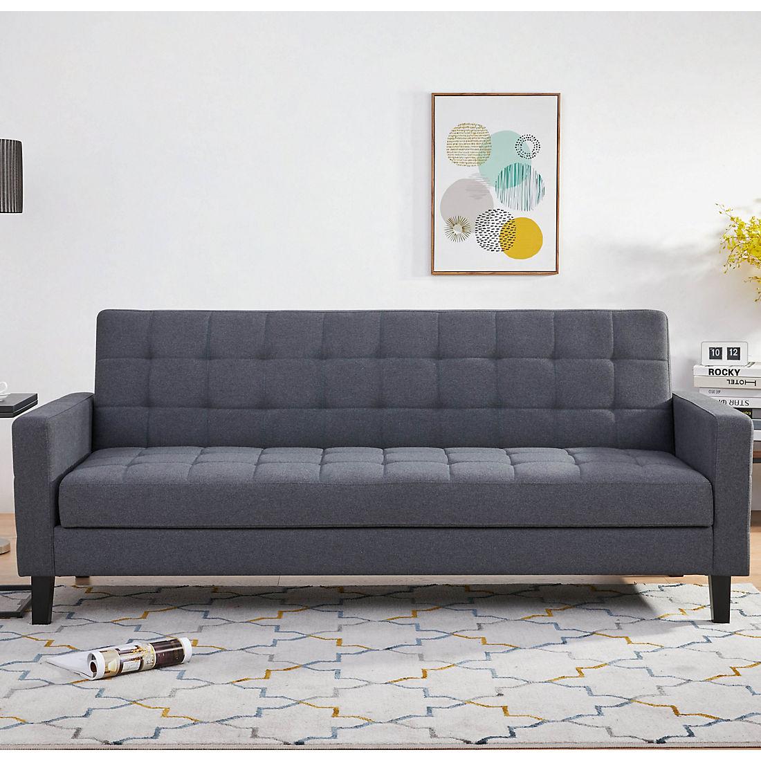 Enjoyable Abbyson Living Jackson Click Clack Sofa Bed With Storage Gray Ibusinesslaw Wood Chair Design Ideas Ibusinesslaworg