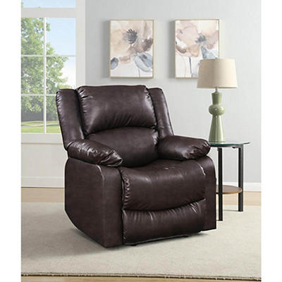 Relax-a-Lounger Lifestyle Solutions Fabric Pushback Recliner