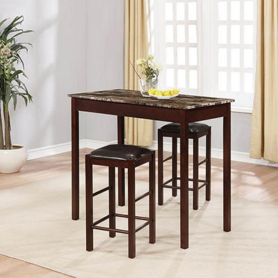 Linon 3-Pc. Tavern Side Table and Stool Set